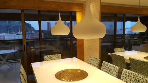 Conceito sala de jantar.: Salas de jantar modernas por Lucio Nocito Arquitetura e Design de Interiores