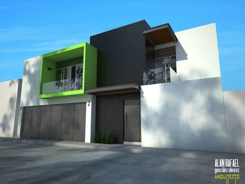 Casa CK: Casas de estilo moderno por Arquitecto Alan RGA