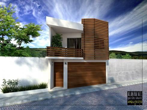 Casa DC: Casas de estilo moderno por Arquitecto Alan RGA