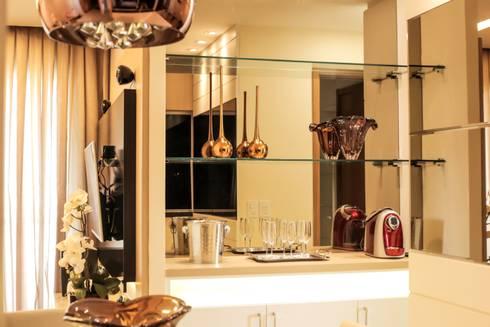 Projeto Sala: Sala de jantar  por Amanda do Espírito Santo Design de Interiores