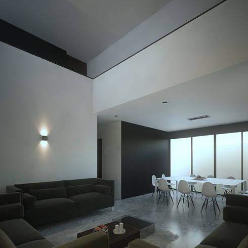 Doble altura: Salas de estilo minimalista por RTstudio