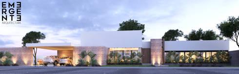 CASA FUNDADORES | Playa del Carmen Q. Roo: Casas de estilo minimalista por EMERGENTE | Arquitectura