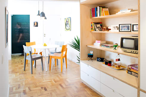 Projeto Apartamento Ipiranga: Salas de jantar modernas por Estudio MB