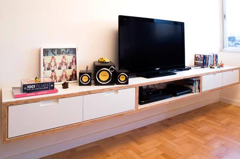Projeto Apartamento Ipiranga: Salas de estar modernas por Estudio MB