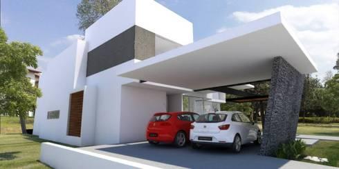 Cochera: Garajes dobles  de estilo  por SANTIAGO PARDO ARQUITECTO