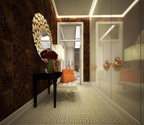 Closet : Closets modernos por DZINE & CO, Arquitectura e Design de Interiores