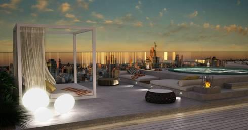 Terrace - Exterior: Terraços  por DZINE & CO, Arquitectura e Design de Interiores
