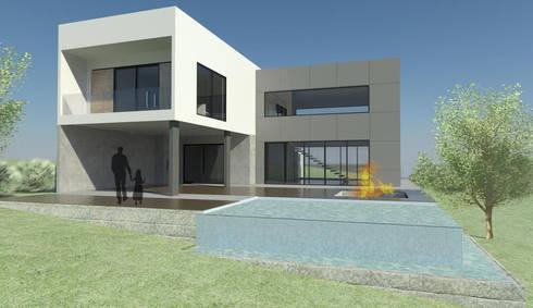 CASA LM: Casas minimalistas por ESTUDIO ARK IT