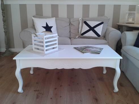 landhaus couchtisch romantik in weiss von homestyle. Black Bedroom Furniture Sets. Home Design Ideas