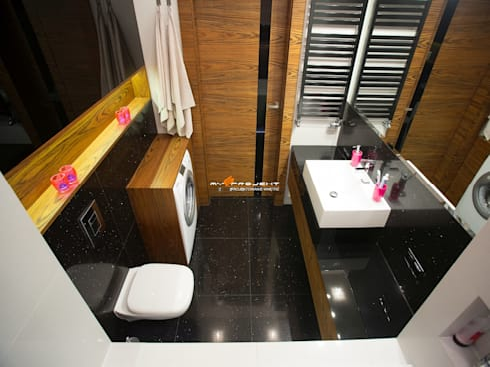 MIESZKANIE NOWY DWÓR MAZOWIECKI: styl , w kategorii Łazienka zaprojektowany przez MYSprojekt projektowanie wnętrz