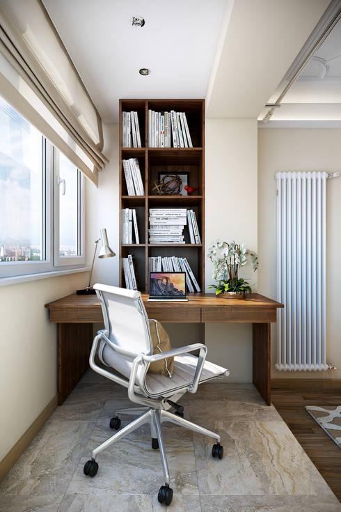 Estudios y oficinas de estilo ecléctico por Ольга Райская