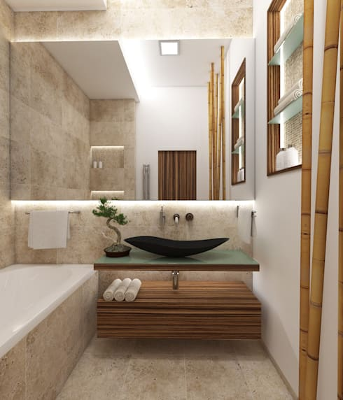 Natur- Badezimmer FUJI by Perfecto design | homify