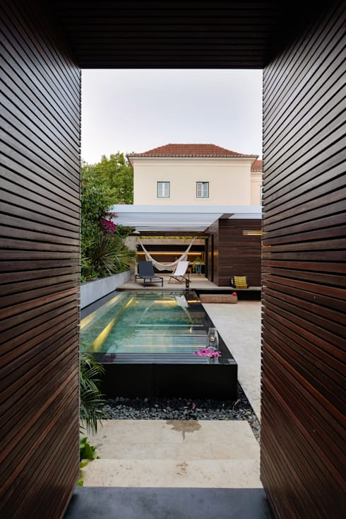 Albercas de estilo  por Ricardo Moreno Arquitectos