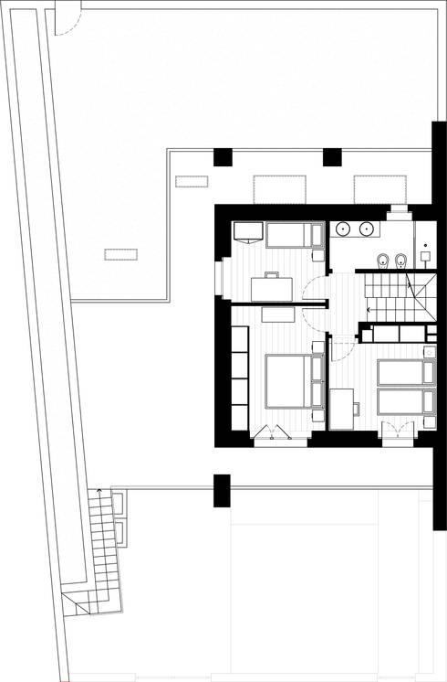 Dormitorios de estilo  por Federico Pisani Architetto
