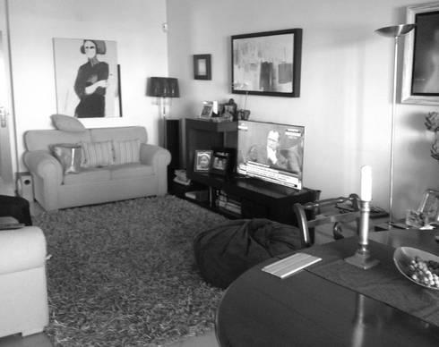 Sala -Antes:   por Interiores com alma