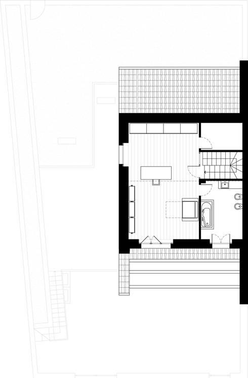 Estudios y oficinas de estilo  por Federico Pisani Architetto