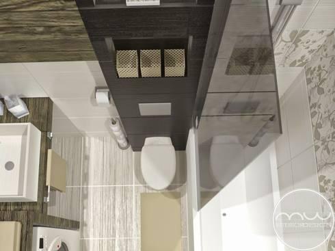 Łazienka Tychy : styl , w kategorii  zaprojektowany przez Marta Wieclaw Design