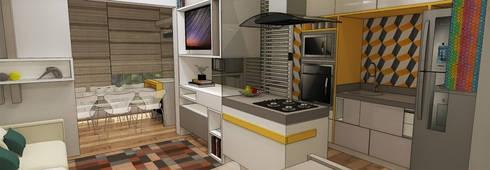 Apartamento São Caetano do Sul: Cozinhas modernas por Studio Meraki Arquitetura e Design