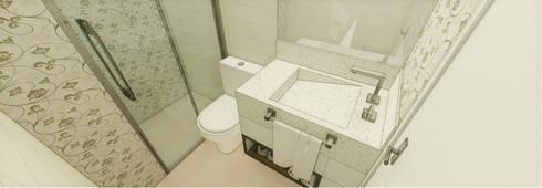 Apartamento São Caetano do Sul: Banheiros modernos por Studio Meraki Arquitetura e Design