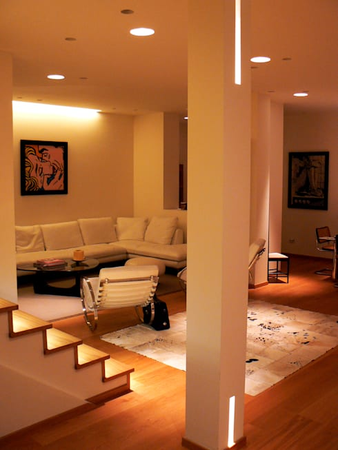 minimalistic Living room by Lighting and...