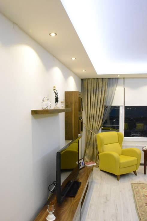 ACS Mimarlık – İzmir Mimkent'te Yeni Bir Yaşam Projesi:  tarz Oturma Odası