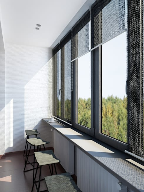 Японский минимализм: Tерраса в . Автор – BIARTI - создаем минималистский дизайн интерьеров