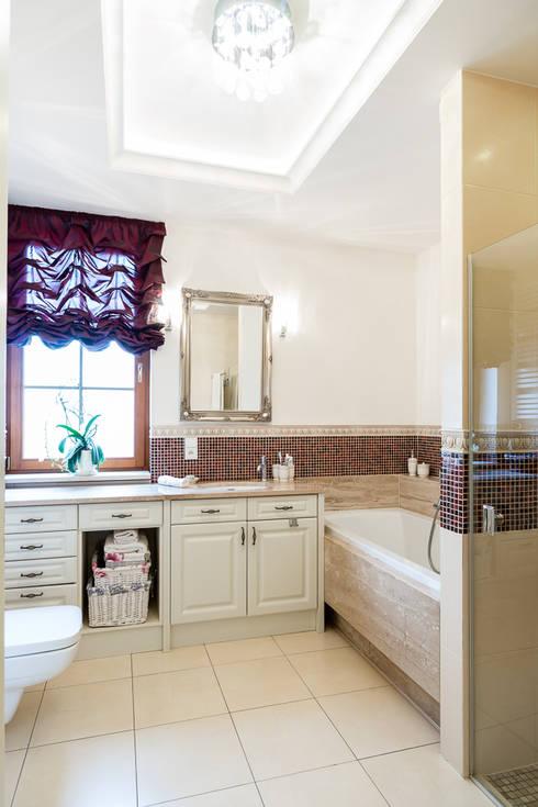 Dom w Bielicach: styl , w kategorii Łazienka zaprojektowany przez Gzowska&Ossowska Pracownie Architektury Wnętrz