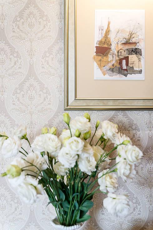 Dom w Bielicach: styl , w kategorii Salon zaprojektowany przez Gzowska&Ossowska Pracownie Architektury Wnętrz