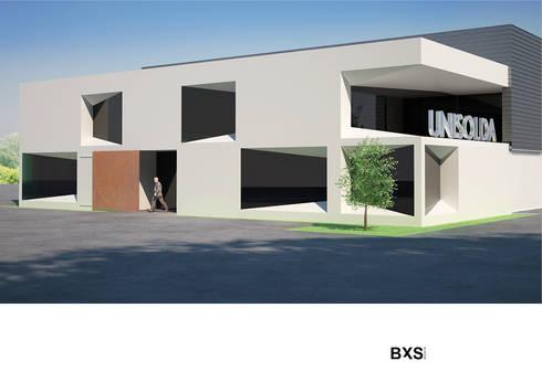 UNISOLDA: Escritórios e Espaços de trabalho  por BXS arquitectos