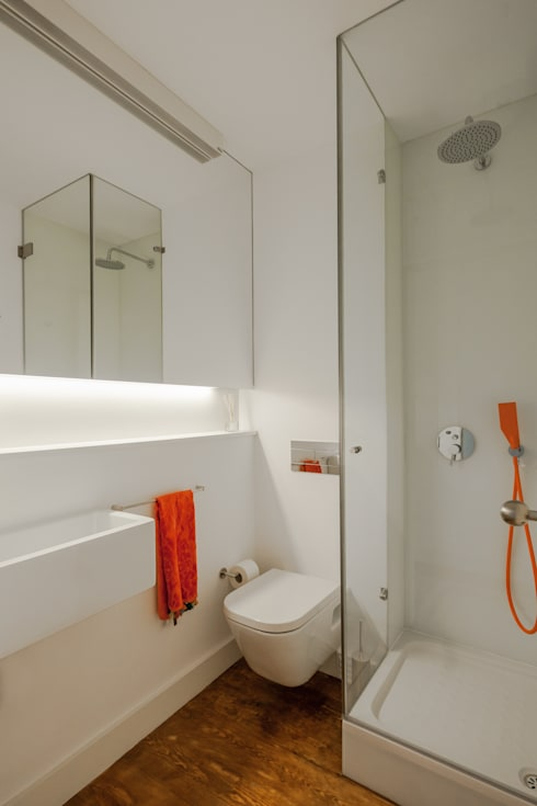 Bagno in stile in stile Minimalista di Vanessa Santos Silva | Arquiteta