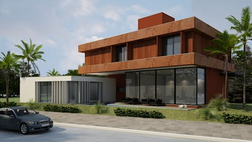 Casa MB: Casas modernas por Arq. Leonardo Silva
