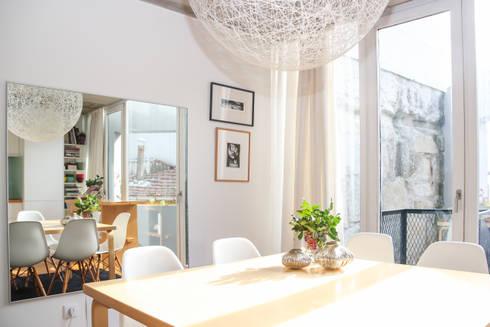 T3 em Massarelos: Salas de jantar modernas por MOOPI - Arch + Interiors
