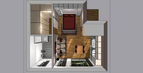 Arredo monolocale di bludiprussia design homify for Arredare monolocale 20 mq