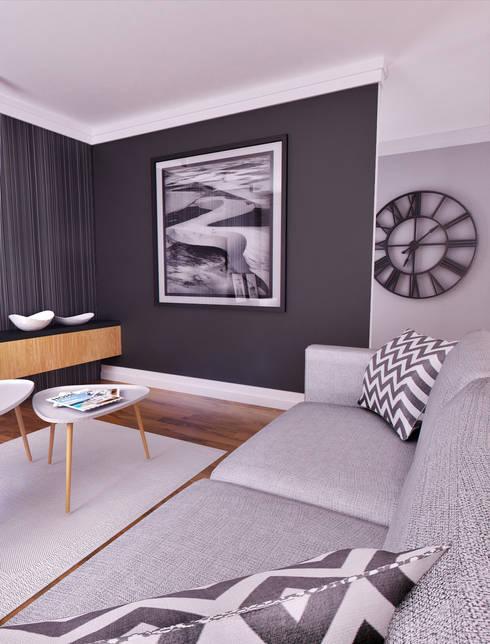 APARTAMENT POKAZOWY Gdynia: styl , w kategorii Salon zaprojektowany przez Just Interiors