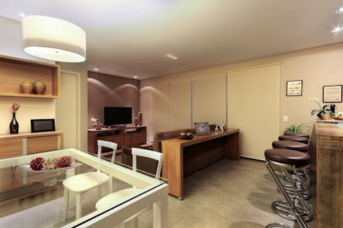 Apartamento Sumaré - SP: Salas de estar rústicas por Juliana Conforto