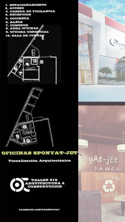 OFICINAS SPONJAT-YET:  de estilo  por TALLER819 A & C