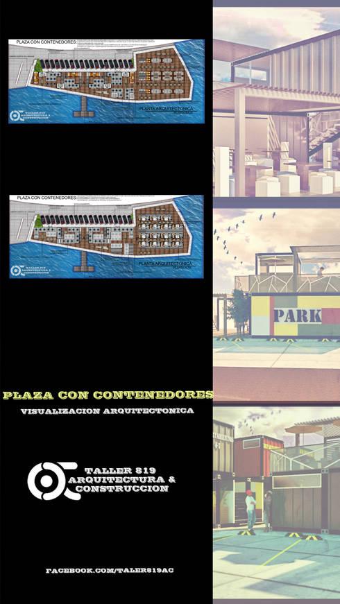 PLAZA CON CONTENEDORES :  de estilo  por TALLER819 A & C
