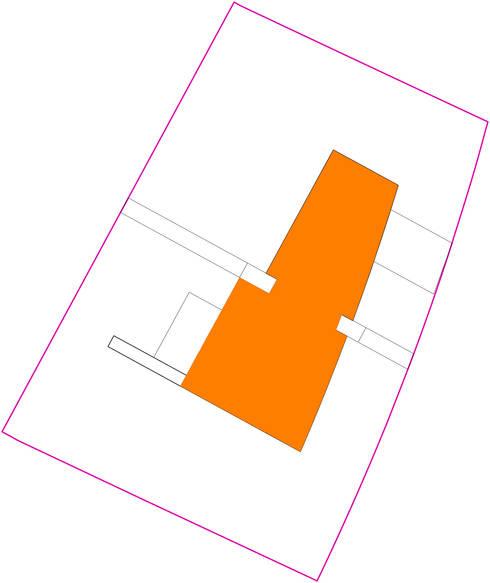 Situatie: Vrijstaand woonhuis voor Elisabeth & Hugo:   door Archivice Architektenburo