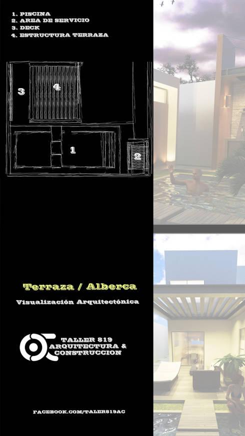 TERRAZA / ALBERCA :  de estilo  por TALLER819 A & C