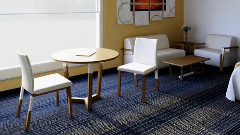 Mesa de estancia: Recámaras de estilo moderno por diesco