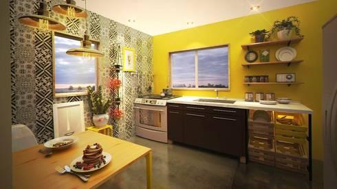 Cocina G08: Cocina de estilo  por Rotoarquitectura