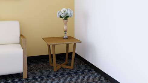 Mesa Auxiliar: Recámaras de estilo moderno por diesco