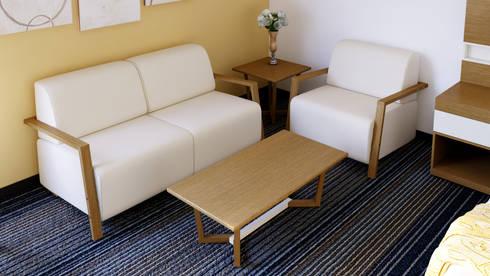 Mesa de Centro: Recámaras de estilo moderno por diesco