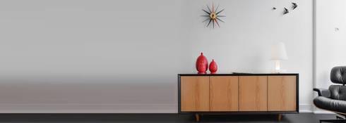 Loja dos Projetos - Showroom: Sala de estar  por Loja dos Projetos