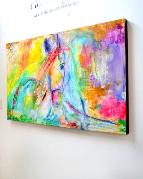 Arte Contemporaneo: Comedor de estilo  por Galeria Ivan Guaderrama