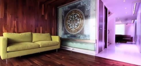 Valeriano Villegas: Salas de estilo moderno por Valeriano Villegas
