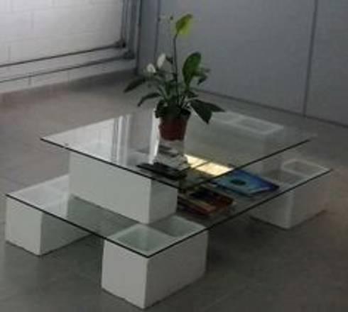 MESA DE CENTRO: Salas de estilo minimalista por ENFOQUE CONSTRUCTIVO
