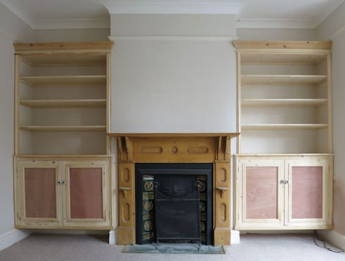 Living Room Built In Bespoke Alcove Furniture: Classic Living Room By Paul  Du0027