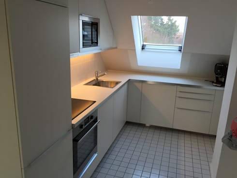 k che in der dachschr ge von test1 homify. Black Bedroom Furniture Sets. Home Design Ideas
