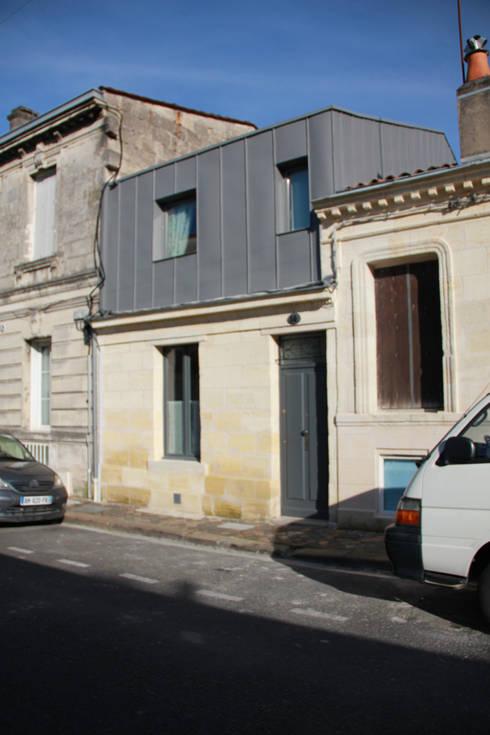 élévation sur rue après travaux:  de style  par Cécilia Cretté architecte